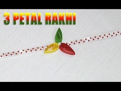 How to Make an 3 Petal Rakhi