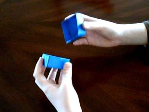 How to make an oragami box with a lid