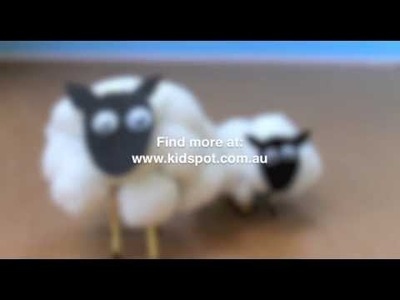 How to make cotton wool sheep