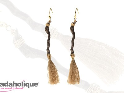 How to Make the Witch's Broom Earrings