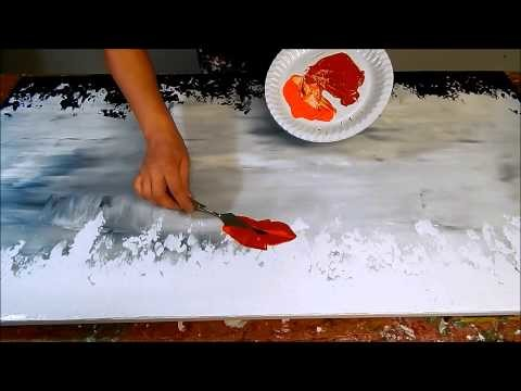 How to paint poppies with acrylic paint. Demo. Flower painting. Blumen malen by ilonka