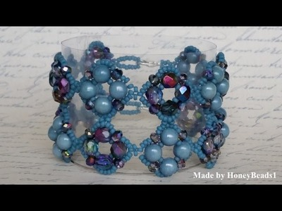 Il Festival Di Trio Bracelet Beading Tutorial by HoneyBeads1