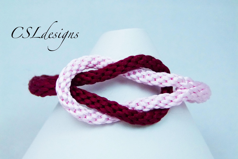 Infinity kumihimo bracelet