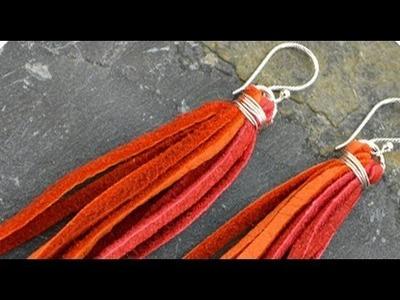 Jewelry How To - Make Leather Tassel Earrings