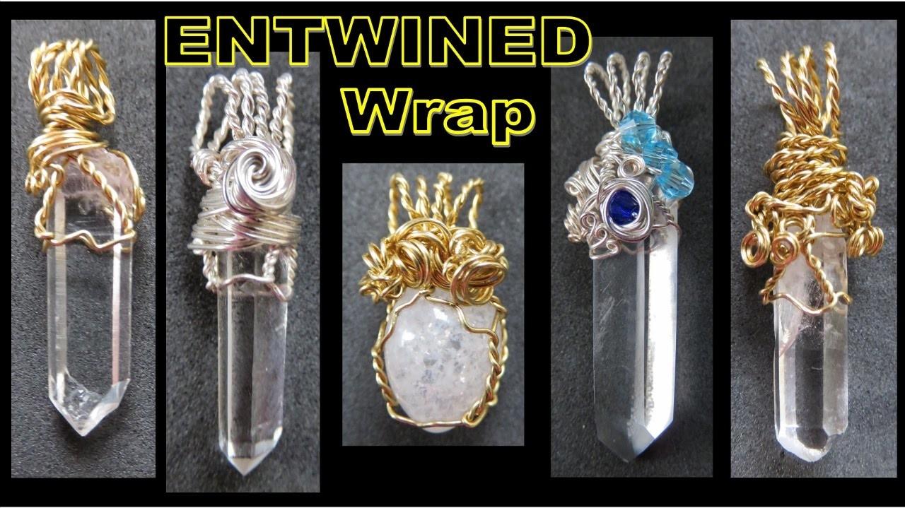 Jewelry Making Tutorial - Entwined Wrap Pendant   Liz Kreate