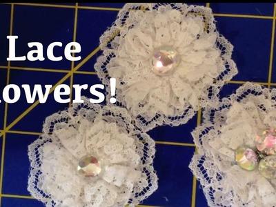 Lace Trim Flower Tutorial