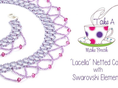 'Lacella' Netted Collar | Take a Make Break with Sarah Millsop