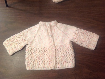Lacey Baby Raglan Jacket how to by Stitch Niche