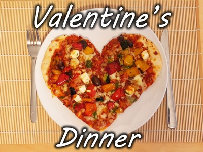 Perfect Valentine's Day Food - Heart Shaped Pizza