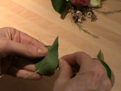 Wedding Flowers - How to stitch wire and tape an  ivy leaf - Campbell's Flower School