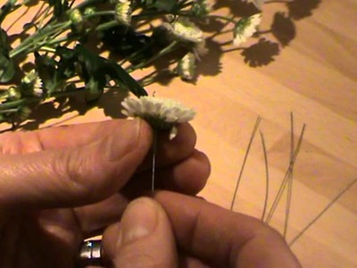 Wedding flowers - How to wire and tape chrysanthemum - Campbell's Flower School