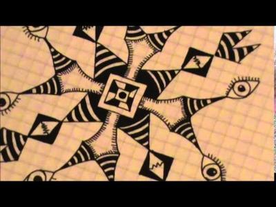 Zentangle 3: how to draw mandala patterns
