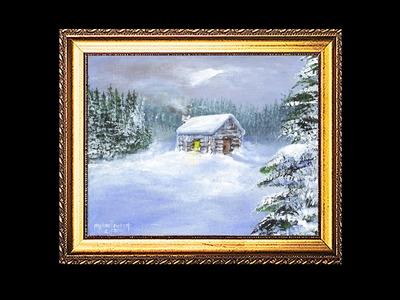 A Cabin Snow Scene Part 1