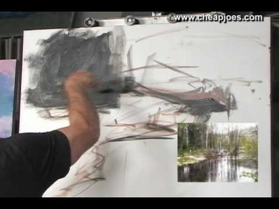 Beginning a Landscape Painting Part 1 of 11 with Andy Braitman