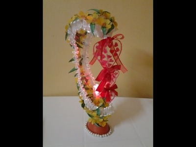 Best Out Of Waste Plastic Oil Can transformed to Fabulous Showpiece with LED light