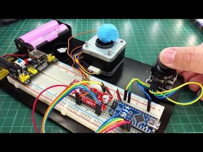 Control Stepper Motor using Easy Driver with Joystick - Arduino DIY Project