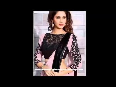 Designer Saree Lace Making-How To Make Designer Saree Blouse(Choli).Sewing Stitching