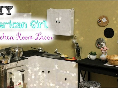 DIY American Girl Doll Kitchen Room Decor!
