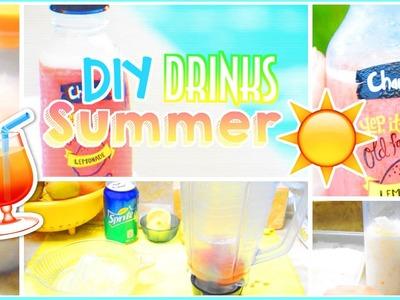 ☼ DIY Easy & Healthy Summer Drinks.Beverages | AlohaKatieX ☼