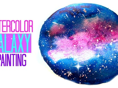 DIY Galaxy Watercolor Painting [Mini Nebula]