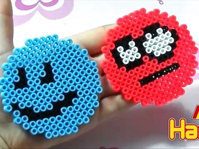 Emoji.Due Faccine con Hama Beads |Perler Bead Emoji Series Episode #4 Tutorial