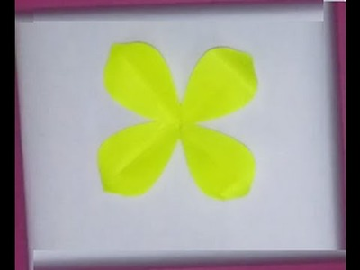 How to: Cutting 4 petal flower! :)