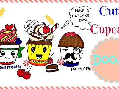 How To Draw; Cute Cupcake Doodle