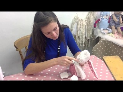 How to hand sew on heads to toys, teddy bears and stuffed animals - www.cuddlecrewpatterns.com