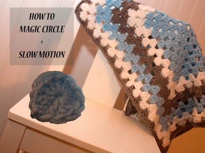 HOW to Magic Circle Crochet with SLOW MOTION
