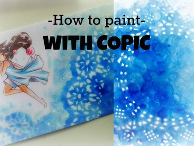 How to paint: Doily background (COPIC various Ink) -Reupload-