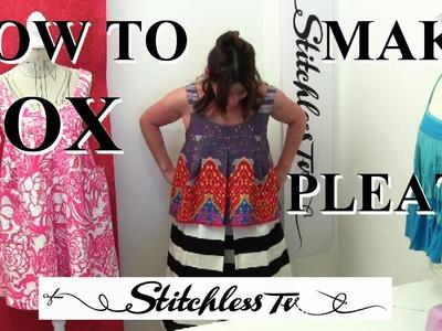 How to sew easy box pleats