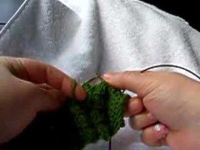Knitting smocked rib