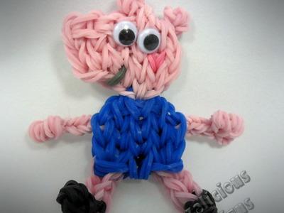 Rainbow Loom George Pig (Peppa's Brother) Action Figure Tutorial (extended)