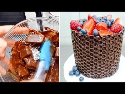 Simple Chocolate Decoration Cake - Microwave Chocolate Tempering