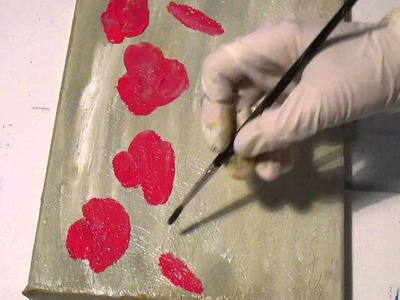 Tanja Bell How to Paint Red Poppies Acrylic Painting Technique Tutorial Demo