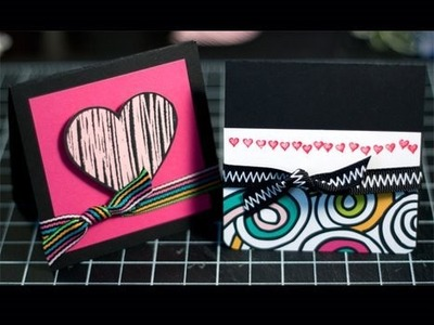 Bright Valentine's Cards - Make a Card Monday #54