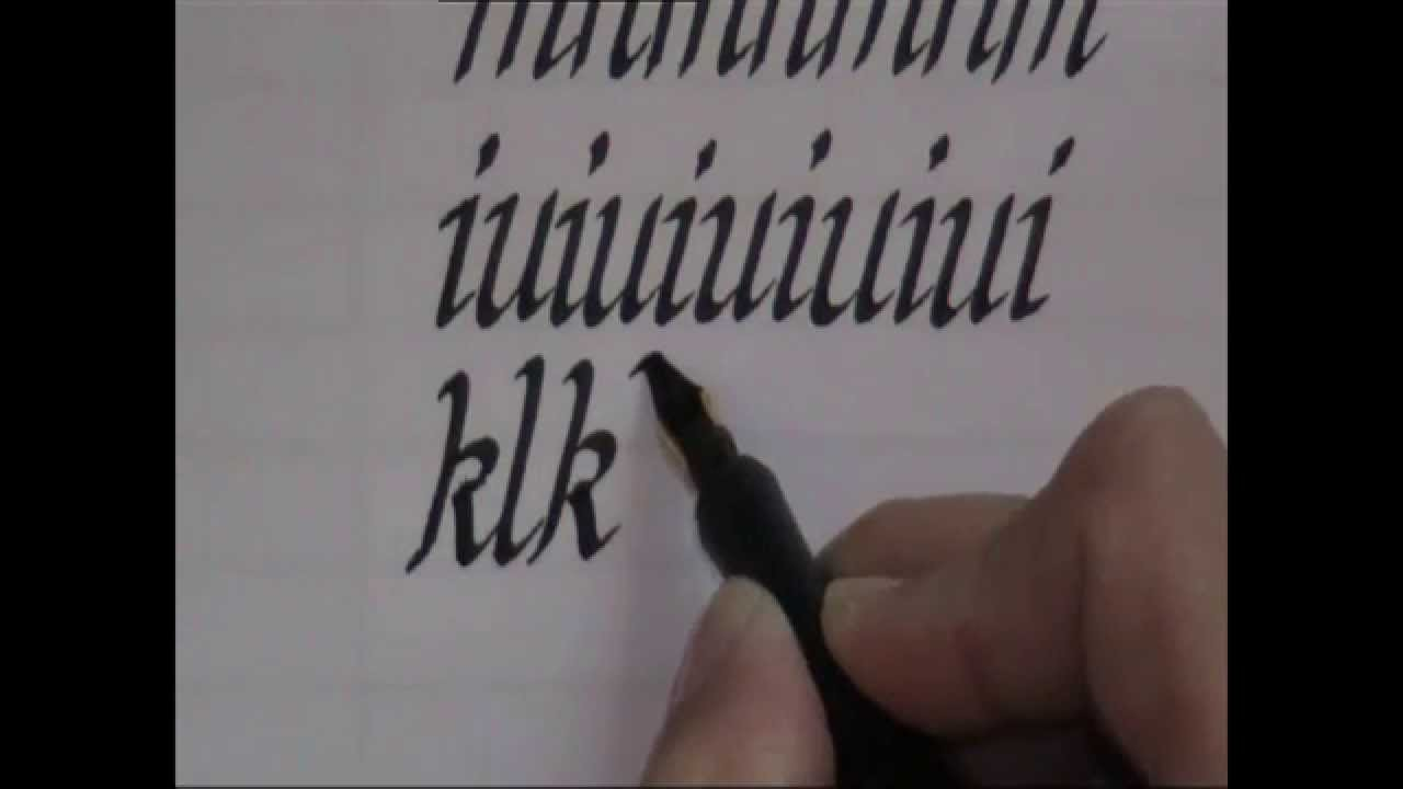 Calligraphy - how to write calligraphy letters - lesson 1 for beginners