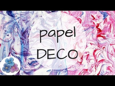 Como Hacer Papel Decorado a Mano para Scrapbook video Tutorial DIY español Pintura Facil