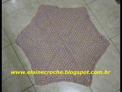 CROCHE - TAPETE HEXÁGONO MESCLADO MIX