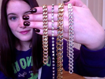 DARBY SMART - DIY CHAIN AND RHINESTONE BRACELET