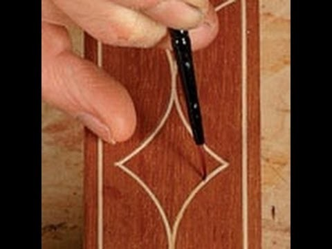 DIY- (Applying Glaze) How to Mimic Inlay and Create a Mission Oak Finish, by Applying Glaze.
