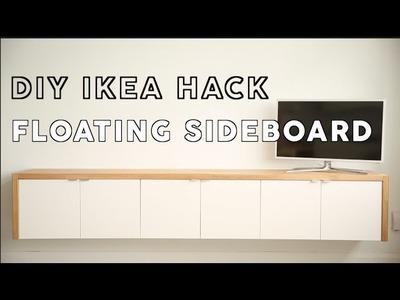 DIY: Floating Sideboard IKEA Hack - #theworktop
