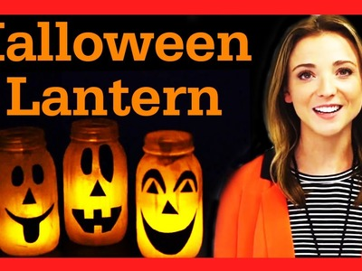 DIY Halloween Mason Jar Lantern! #17daily