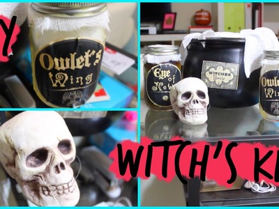Easy DIY Witch's Kit Halloween Decoration