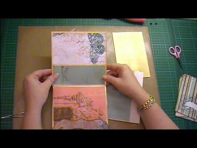 Envelope mini album tutorial Part 2 using Bo Bunny 'Gabrielle'
