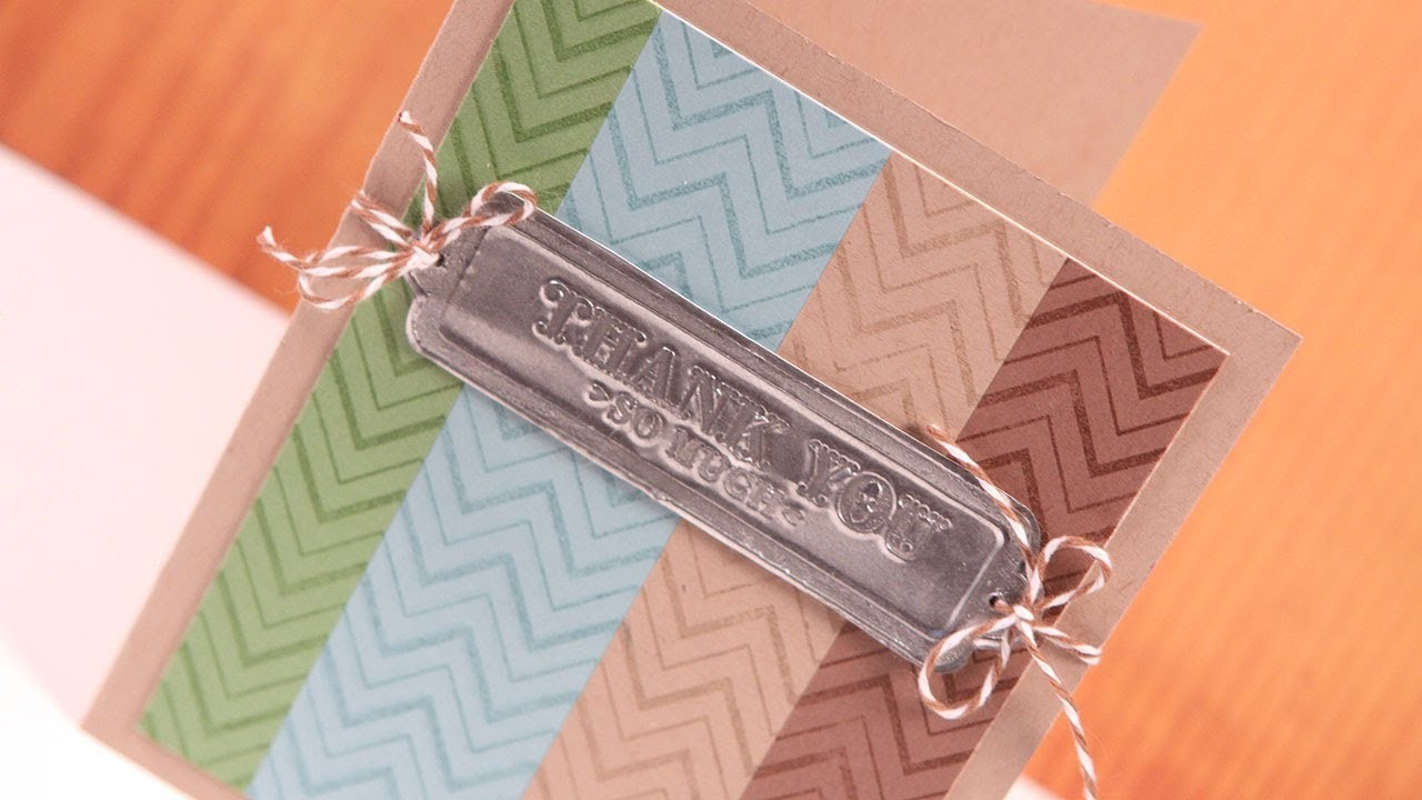 Faux Metal (Silver Embossing) - Make a Card Monday #170