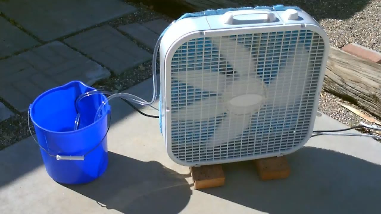 "Homemade Evaporative Air Cooler! - Simple ""Box Fan"" Conversion - EASY Instructions!"