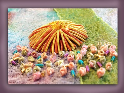 How to embroider a goldwork limpet shell