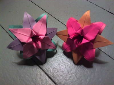 How to Fold a Tricolored Origami Lily