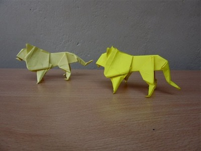 How to Make a Paper Lion - Easy Tutorials